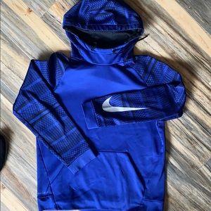 Sz M Nike drifit blue/black Hoodie/pullover